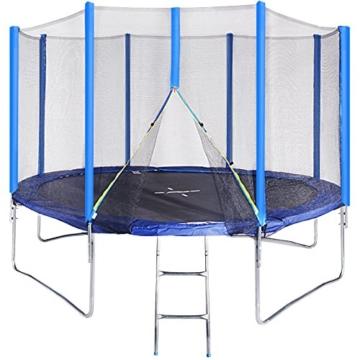 Physionics Trampolin Set Gartentrampolin Kindertrampolin mit ca. 366 cm Durchmesser mit Zubehör